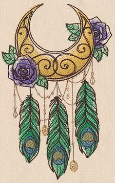 Wanderlust - By the Moonlight - Thread List | Urban Threads: Unique and Awesome Embroidery Designs