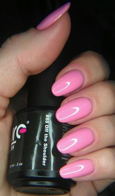 """Off the Shoulder"" from Couture #gelnailpolish #pink #nails"