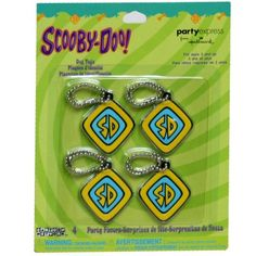 Scooby Doo Dog Tag 4 pc - Scooby Doo Party Supplies