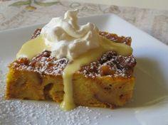 Pumpkin Panettone Bread Pudding