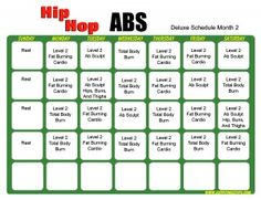 Hip Hop Abs Schedule Deluxe Month 2