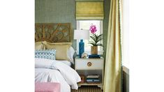 This New Palm Beach House Is Bursting With Old Florida Charm This New Palm Beach House Is Bursting With Old Florida Charm Spruced Up Staging Design sprucedupstaging Furniture Though this nbsp hellip Console Table Styling, Master Bedroom, Bedroom Decor, Yellow Sofa, Surf Decor, Seaside Style, Old Florida, Formal Living Rooms, White Bedding
