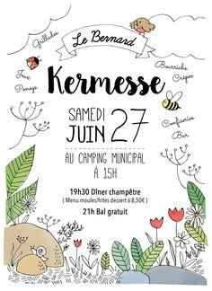 Affiche kermesse | Ecole des Dolmens | Le Bernard | Vendée