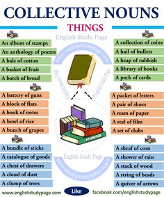 Collective Nouns - Things - English Study Page