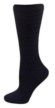 Vertical Scrunch Crew Socks - Black