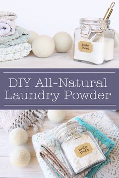 It's SO incredibly easy to make your own all-natural laundry powder! This DIY laundry powder recipe uses just 3 ingredients and is a great way to naturally clean your clothes.