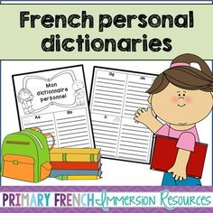 French personal dictionary - Mon dictionnaire personnel! #tpt #teacherspayteachers #frenchtpt #frenchimmersion #primaryfrenchimmersion #francais
