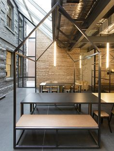 Fun 'shed' in an open space Captain Melville restaurant by Breathe  Architecture Melbourne Australia