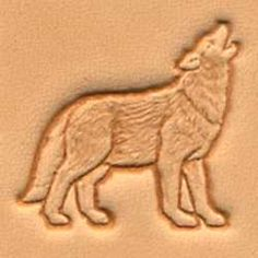 Springfield Leather Company Right Facing Howling Coyote 3D Leather Stamp