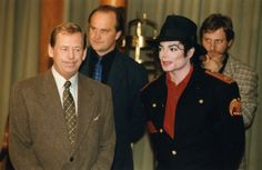MJ and President of Czech Republic Vaclav Havel during a meeting at the Prague Castle September 6 1996