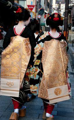 Darari obi of okiya Kaden and Toshikimi (Miyagawacho)