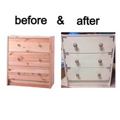 before & after ikea hack.