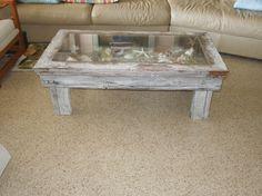 rustic shadow box coffee table