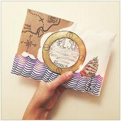Sailing Away - Creative Snail Mail Envelope Lettering, Envelope Art, Hand Lettering, Letter Art, Letter Writing, Mail Art Envelopes, Addressing Envelopes, Snail Mail Pen Pals, Paper Art