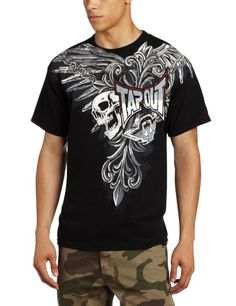 18d832981835 Amazon.com: TapouT Men's Night Stream Short Sleeve Tee, Black, XX-Large:  Clothing