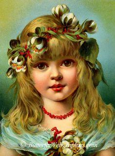 Victorian Christmas Girl