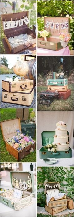 vintage suitcase wedding decor ideas