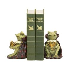 Sterling Home Pair of Frog Prince Bookends 612Inch Tall *** You can get more details by clicking on the image.