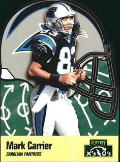 1996 Playoff Prime - X's and O's #62 Mark Carrier WR Front