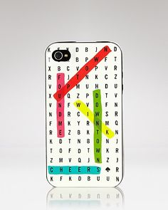kate spade new york iPhone 4 Case - Word Search Resin | Bloomingdale's