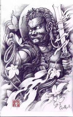 Japanese Tattoo Art, Japanese Sleeve Tattoos, Japanese Tattoo Designs, Asian Tattoos, Dog Tattoos, Back Tattoos, Tattoos For Guys, Dali Tattoo, Samurai Tattoo