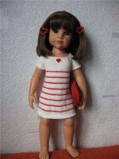 Белое летнее платье / Одежда для кукол / Шопик. Продать купить куклу / Бэйбики. Куклы фото. Одежда для кукол