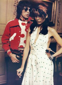 Mick Jagger and Bianca Jagger.