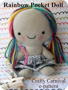 etsy size rainbow pocket doll pattern cover | Flickr - Photo Sharing!