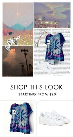 """""""10:00pm- im almost done renovating my room yay"""" by rosebuscemi on Polyvore featuring MTWTFSS Weekday, adidas and INDIE HAIR"""