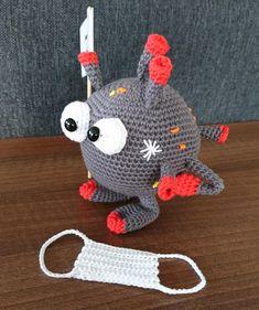 Crochet Mask, Crochet Patterns Amigurumi, Amigurumi Doll, Crochet Dolls, Sewing Paterns, Yarn Projects, Smiley, Easter Eggs, Hand Sewing