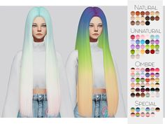 """kalewa: """" TS4 Hair Retexture 26 - Hallowsims's Butterfly140 • 90 Colors • Retexture • Thumbnail • Standalone The beautiful Mesh is by Hallowsims, please download here! Go here to download my other..."""