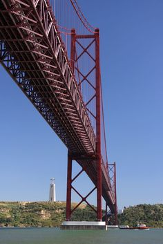 #Lisbon going under this on our riyal Caribbean cruise liner with 10 feet to spare this summer