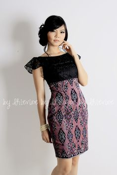Ikat dress | Kebaya Dress | Off shoulder dress | Rupeshwari Ikat Lombok Dress | DhieVine | Redefine You