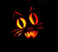 7 Best Images of Easy Printable Pumpkin Carving Templates - Easy Ghost Pumpkin Carving Patterns Templates, Printable Pumpkin Carving Template Boo and Easy Pumpkin Carving Stencils Cat Face Pumpkin, Cat Pumpkin Carving, Pumpkin Carving Contest, Pumpkin Carving Templates, Ghost Pumpkin, Scary Pumpkin, Pumpkin Art, Pumpkin Ideas, Pumpkin Patterns