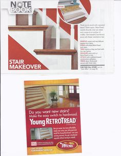 Remodel carpeted steps into wood. (from lowes creative ideas mag ad 12/12)