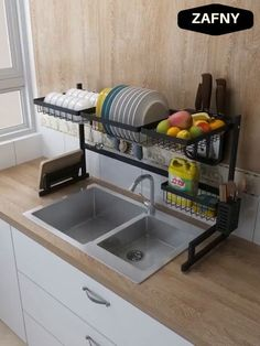 Turn the sink into a workbench Make the most of the space above the sink Whether it is disassembly or cleaning is very convenient # Home Decor kitchen STAINLESS STEEL DRAIN RACK Kitchen Room Design, Home Decor Kitchen, Rustic Kitchen, Interior Design Kitchen, Kitchen Furniture, Home Kitchens, Kitchen Designs, Small Kitchens, Apartment Kitchen