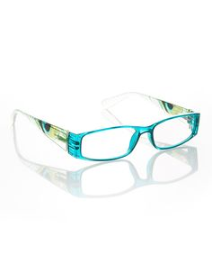 Another great find on #zulily! Clear Teal Peacock Readers by Etienne Aigner #zulilyfinds