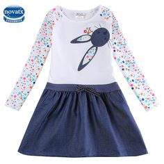 Awesome Baby Girl Dress long sleeve kids dresses for girls Clothes children clothing Kids Clothes winter Party Nova Girls Dress H5922 - $19.41 - Buy it Now!