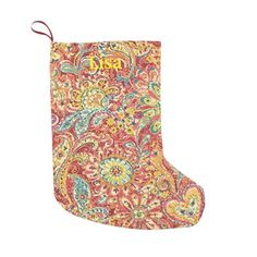 Personalized Colorful Floral Christmas Stocking Small Christmas Stocking http://www.zazzle.com/personalized_colorful_floral_christmas_stocking_manualwwstocking-256003583045187374?rf=238271513374472230  #christmas  #christmasstockings  #stockings