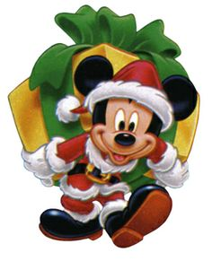 A Disney Christmas - Mickey Clause Disney Christmas Decorations, Mickey Mouse Christmas, Mickey Mouse And Friends, Christmas Clipart, Christmas Art, Minnie Mouse, Mickey Mouse Clipart, Disney Clipart, Disney Fun