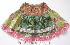 Matilda Jane Platinum Art Fair Scroll Gretta Apron Skirt