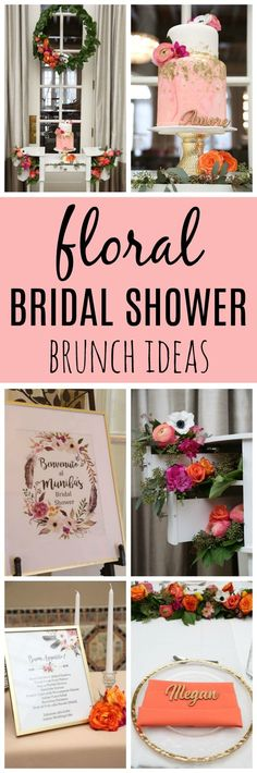 Chic Floral Themed Bridal Shower Brunch - Pretty My Party