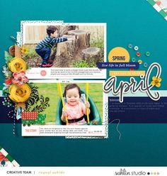 April digital scrapb