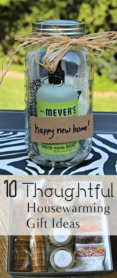 DIY Gifts : 10 Creative Housewarming Gift Ideas 10 Thoughtful Housewarming Gift Ideas Sharing is caring, don't forget to share ! Hostess Gifts, Holiday Gifts, Christmas Gifts, Cute Gifts, Best Gifts, Jar Gifts, Homemade Gifts, Homemade Housewarming Gifts, Housewarming Basket