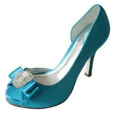 Belle Paradox Palace Dyed Blue Wedding Shoes