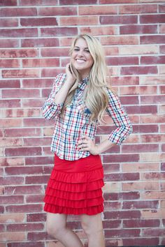 Bring On The Frill Layering Skirt-Red Wear this extender as a skirt on its own