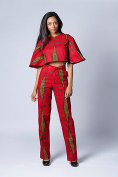 Crop Top Festival Top Tribal Top Boho Top Red Crop by COLUFashion