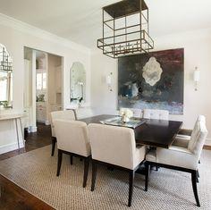 dining room - art by Coker interior designer - Tracy Hardenburg