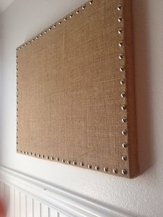 Burlap Message Board , Memo Board with Polished Nickle Nailheads, Multiple Colors Available - 16x20 $42