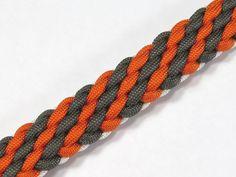 How to make a Tiger Stripe Sinnet Paracord Bracelet